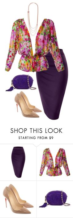 """Senza titolo #236"" by fashionloverrrrr ❤ liked on Polyvore featuring Yves Saint Laurent, Christian Louboutin and Chanel"