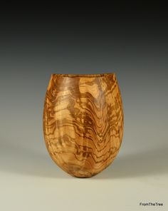 Rippled olive ash form made by George watkins