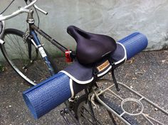 Bicycle Yoga Roll bike accessory yoga mat roll door anhaicabagworks, $30.00