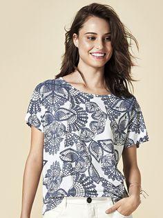 Blusa Feminina Em Viscose Estampada | Blusas | Feminino | Hering