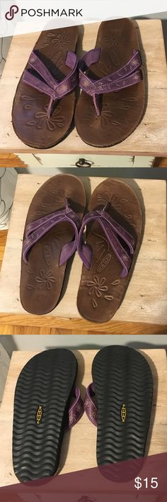 Keen Leather Flip Flops ~ 8 Leather flip flops. Tight fit. Awesome construction. Only worn twice. Perfect condition. Keen Shoes Sandals