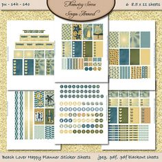 Digital Happy Planner Printable Stickers: by DigitalDesignsbyJodi