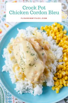 This Homemade Dish Is Crispy And Delicious, Filled With Cheese And Ham. It Is An easy Version Of The Famous French Meal That Is Ready In About One Hour. . Crockpot Chicken Cordon Bleu, Slow Cooker Recipes, Crockpot Recipes, Slow Cooker Chicken, Chicken Meals, Boneless Chicken, Crack Chicken, Cream Of Chicken Soup, Chicken Curry