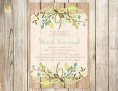 Bohemian Bridal or Baby Shower Invitation by EmmyJosParties, $14.00