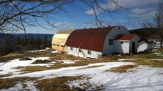 The barn, unfinished. The view, priceless!