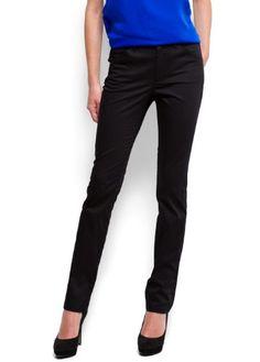 Mango Women`s Satin sheen slim-fit trousers - Pen7 $19.99