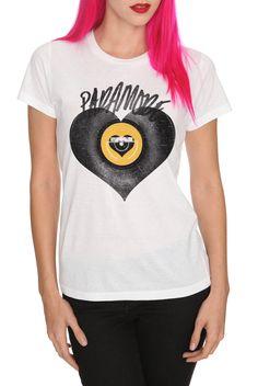 934d3872e96ef Paramore Vinyl Heart Girls T-Shirt