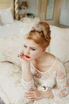 Wedding hair # vintage# hairstyle# Hair by Kate Thomson. Wedding hair # vintage# hairstyle# Hair by Kate Thomson. 40s Wedding, Wedding Hair Half, Wedding Hairstyles For Medium Hair, Chic Wedding, Wedding Styles, Wedding Ideas, 40s Hairstyles, Vintage Hairstyles, Female Hairstyles