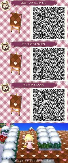 Chocolate Tile Path Animal Crossing New Leaf Qr Code. Advice: Use one tile as the floor in your house! It goes GREAT with Lovely furniture sets & Regal pink furniture sets! <3