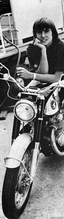 The Monkees' David Jones  on his 60′s Honda CB450 'Black Bomber,' June, 1967.