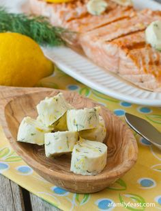 Lemon Dill Compound Butter. I NEED this on a piece of salmon, pronto!