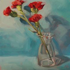 "Daily Paintworks - ""Pops of Red"" - Original Fine Art for Sale - © Jamie Stevens"