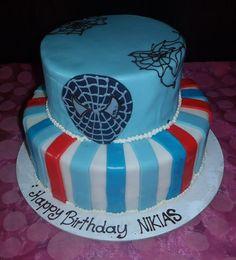 Spider-Man Spiderman birthday cake boys