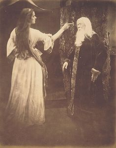 Vivien and Merlin by Julia Margaret Cameron