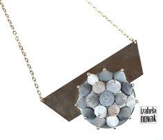 Izabela Nowak / Contemporary Jewelry / Polymer Clay / Fimo / pendant / modelina / www.facebook.com/izabelanowakdesign