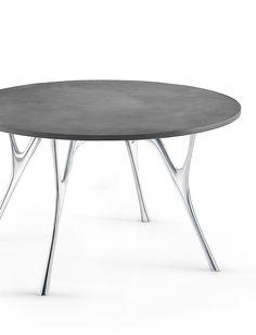 PEGASO - runder Tisch mit Platte in Betonoptik von Caimi bei designfund.de kaufen.