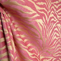 Serengeti Hot Pink Animal Print Chenille Upholstery Fabric | eBay