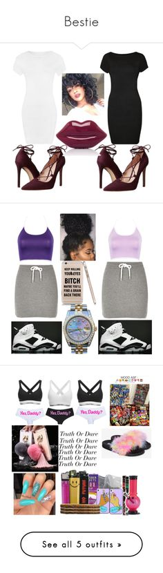 Bestie by ivory715 on Polyvore featuring polyvore fashion style WearAll Massimo Matteo Lulu Guinness clothing River Island NIKE Rolex Calvin Klein Topshop René Caovilla Casetify Givenchy New Look Giuseppe Zanotti Michael Kors Forever 21