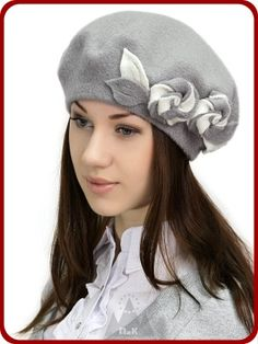 Берет Каролина - Женские шапки - Из кашемира