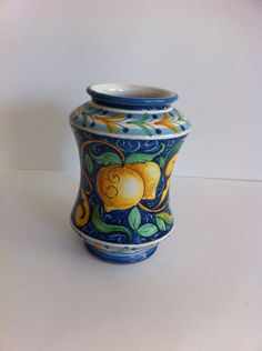 MOTHER'S DAY GIFT Vintage Italian Vase / blue and by LoreNovedades, $78.00