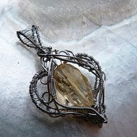 Search Products: wire-wrapping / Goods | Fler.cz Wire Wrapped Pendant, Wire Wrapping, Wraps, Silver, Handmade, Jewelry, Search, Products, Hand Made