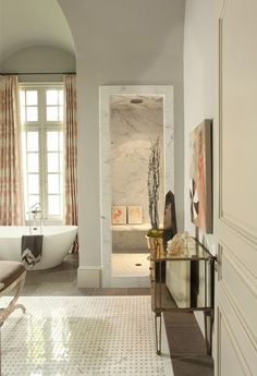 Neutral Bathroom, Enclosed Shower Neutral Bathrooms Designs, Bathroom  Interior Design, Bathroom Designs,