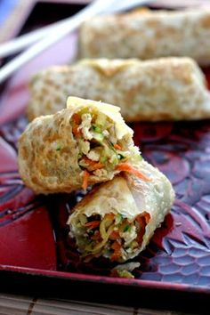 Homemade Eggrolls    Step out of your comfort zone and try making your own egg rolls at home. With a few ingredients for your filling, all you need to master is the technique of rolling them up, which Brooke shows with step by step photos and instructions.  Make Brooke's homemade egg rolls