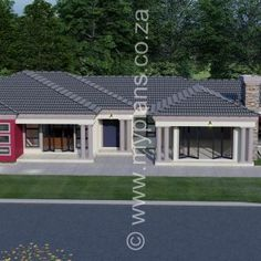 6 Bedroom House Plans – My Building Plans South Africa Round House Plans, Family House Plans, Dream House Plans, 6 Bedroom House Plans, 5 Bed House, House Plans South Africa, 2 Storey House Design, Village House Design, Beautiful House Plans