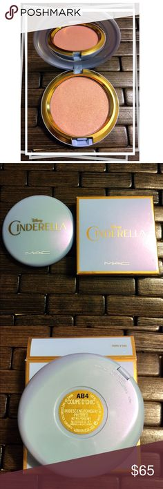 """Cinderella Coupe d Chic  Mac limited edition Cinderella                          Coupe d Chic Iridescent Powder/pressed        Brand New never Used                                    described as a """"light golden peach with gold shimmer."""" It's a pinky-peach with warm, sparkling gold.                                                           5 Star Rating ⚡️Fast Shipping ⛔️ No Trades ✅ Accepting Offers MAC Cosmetics Makeup Blush"""