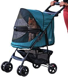 Pet Gear NoZip Happy Trails Pet Stroller Zipperless Entry Emerald >>> Read more reviews of the product by visiting the link on the image.(This is an Amazon affiliate link and I receive a commission for the sales)