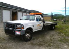 1995 ford f350 flatbed tow truck W/ Grille Guard - Google Search