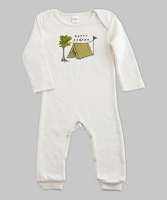 Look what I found on #zulily! Ivory 'Happy Camper' Romper - Infant by Ruff Truff #zulilyfinds