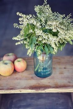 If you are going to do flowers, keep them super simple and display them in jars.