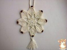 Delicadezas en crochet Gabriela: Copo de nieve adorno navideño