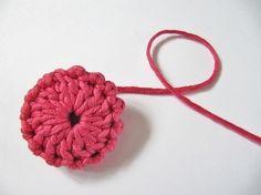 crochet buttons tutorial