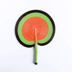 Brown, Green and Orange Senegal Fan