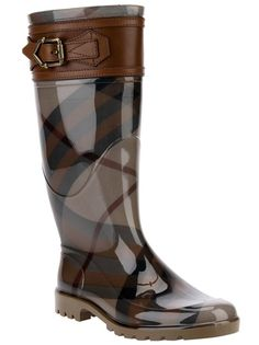 Burberry London - belted check rain boot 6                                                                                                                                                                                 Más