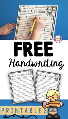 FREE handwriting worksheets for students - teach children correct directionality to help improve their handwriting and printing capital and lowercase letters - easy writing center or small group instruction - FREEBIE printable - students who mix up b and Free Handwriting Worksheets, Kindergarten Handwriting, Teaching Handwriting, Kindergarten Freebies, Teaching The Alphabet, School Worksheets, Kindergarten Lessons, Handwriting Practice, Teaching Writing
