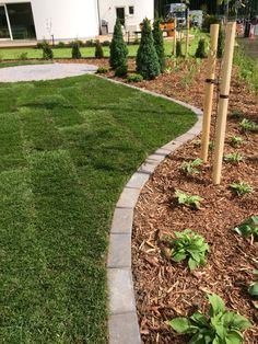 Flower Bed Edging, Flower Beds, Garden Borders, Garden Paths, Concrete Pavers, Private Garden, Garden Inspiration, Garden Ideas, Outdoor Gardens