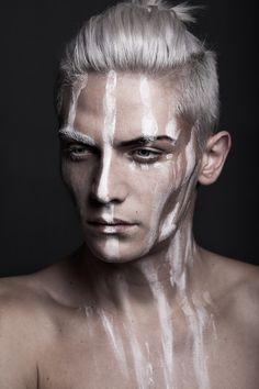 """darkbeautymag: """" Photographer: Katja Hofmann and Bernd Hofmann - linsengerecht.de Hair/Makeup: Kerstin Hoppe - KH VISA Model: David Balheim """""""