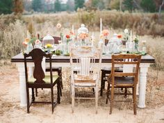 Vintage shabby chic field wedding reception | Brandi Smyth Photography for @Smitten Magazine | see more on: http://burnettsboards.com/2014/04/field-dreams-editorial-smitten-magazine/