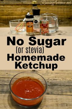 No Sugar or Stevia Homemade Ketchup is part of No Sugar Or Stevia Homemade Ketchup Raising Arrows - Make your own ketchup without sugar or other sweetener! Simple ingredients, and perfect for low carb or trim healthy mama menu plans! Sugar Free Ketchup Recipe, Low Carb Ketchup, Sugar Free Recipes Stevia, Healthy Ketchup Recipe, Paleo Ketchup, Homemade Ketchup, Homemade Sauce, Easy Healthy Recipes, Whole Food Recipes