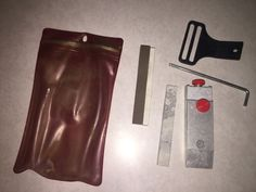 Vintage SMITH'S Sharpening Kit Knife & Tool with Stone & Bag E-Z Sharp Kid Mixed #SMITHS