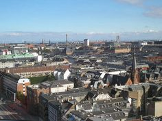 View from the floor in an office building Bricks, Copenhagen, San Francisco Skyline, Paris Skyline, Copper, Floor, Street, Building, Travel