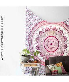 Elefant Mandala Tagesdecke Wandbehang couvre lit indien Inde Yoga Backdrop deko
