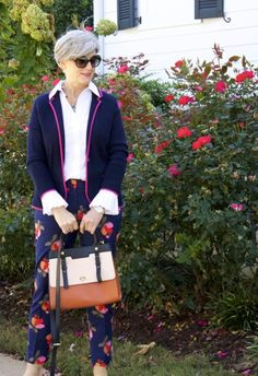 цветочные брюки боден с свитер блейзер