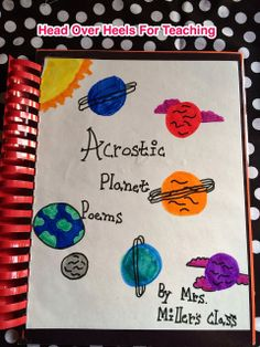 Head Over Heels For Teaching: Write acrostic poems for content area subjects. Students must be creative and concise with their word choice.