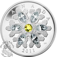 Coin Gallery London Store - Canada: 2011 $20 Crystal Topaz Silver Coin, $99.95
