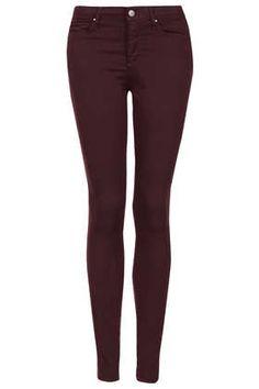 MOTO Aubergine Leigh Jeans - Denim  - Clothing