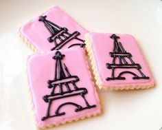paris birthday cookies - Buscar con Google